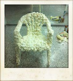 Classic monoblock chair embellished with polyurethane foam