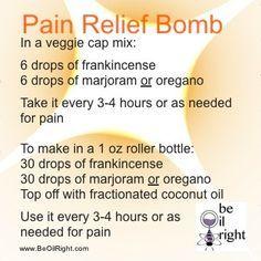 ผลการค้นหารูปภาพสำหรับ morphine bomb with doterra oils Essential Oils For Headaches, Yl Essential Oils, Doterra Oils, Essential Oil Blends, Doterra Blends, Yl Oils, Arthritis, Tennis Arm, Doterra Essential Oils