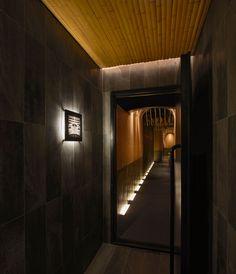 imafuku architects creates a bamboo canopy inside japanese restaurant in beijing Japanese Restaurant Interior, Restaurant Interior Design, Chinese Restaurant, Interior Design History, Japanese Interior Design, Interior Garden, Interior And Exterior, Bar Design Awards, Architect Design