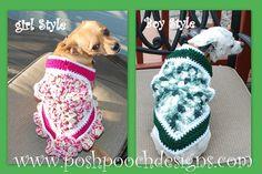 Instant Download Crochet Pattern  Summer Dog by poshpoochdesigns