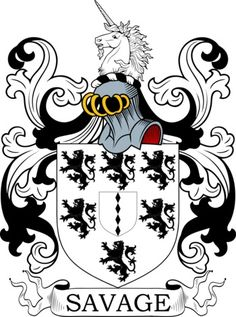 Savage Family Crest and Coat of Arms