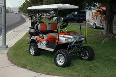Custom Golf Carts -- Custom Painted Snake Skin Lifted Golf Cart Las Vegas