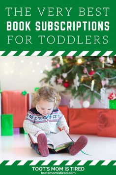 The Best Book Subscriptions For Toddlers | Book subscription services for kids, toddlers, and preschoolers. Book boxes for kids. subscription gift ideas for toddlers. Three Year Olds, One Year Old, Toddler Books, Childrens Books, Two Years Old Activities, Book Boxes, Tired Mom, Subscription Gifts, Experience Gifts