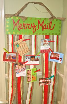 Christmas Card Holder by Two Chics. LOVE it! I'm making this!!