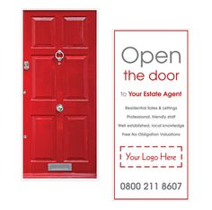 Open the door    Browse through hundreds of Letting Agent design templates! by @estateagentleaflets - product code DC0024 -  Visit our website for more information! #diecut #shapedleaflets #leaflets #estateagentleaflets #estateagents