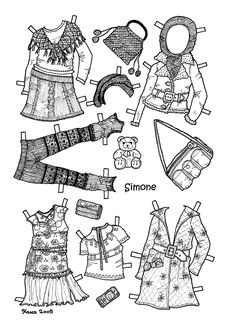 Karen`s Paper Dolls 3 of these paper doll clothes