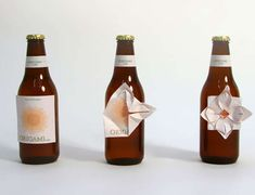 These Bottles are Marketed with Paper Oragami Labels #packaging #interactive trendhunter.com