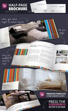 half page brochure indesign template graphicriver half page brochures are a great way of. Black Bedroom Furniture Sets. Home Design Ideas