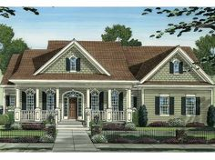 Eplans Country House Plan - Covered Porches Offer Spectacular Outdoor Living Space - 2513 Square Feet and 3 Bedrooms(s) from Eplans - House Plan Code HWEPL64920