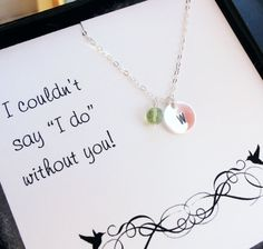 Gifts for the bridesmaids!