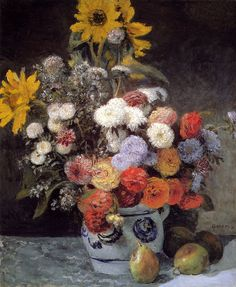 Pierre Auguste Renoir (1841-1919) Mixed Flowers In An Earthware Pot Oil on canvas 1869 54.2 x 64.9 cm (21.34
