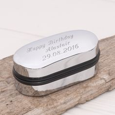 Personalised Chrome Cufflink Box £10.00 - Gifts - Gifts For Him Buy, Engraved Silver Jewellery, Personalised Mens, Womens Gifts, Online, UK
