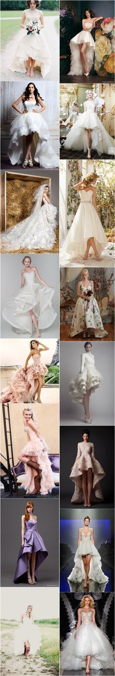 high-low wedding dresses and gowns / http://www.deerpearlflowers.com/high-low-wedding-dresses/