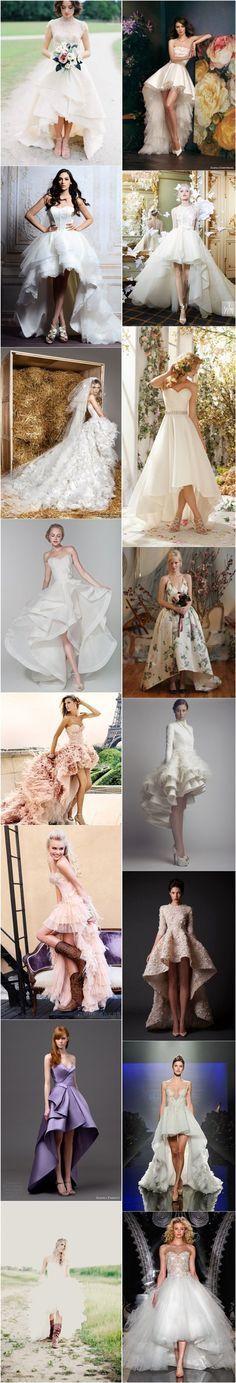 Las novias #innovias más rompedoras eligen vestidos de novia cortilargos. Te gustan?