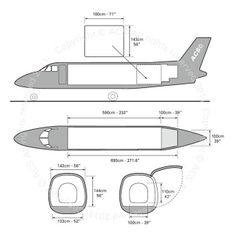 Embraer Bandeirante freighter diagram (ACS http://www.aircharterservice.com/)