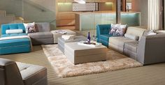 Las salas modulares son perfectas para los espacios pequeños, ya que podemos hacer nuestras propias combinaciones.