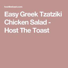 Easy Greek Tzatziki Chicken Salad - Host The Toast