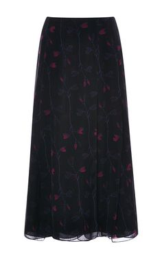 Silk Chiffon Wild Floral A-Line Skirt by Thakoon Now Available on Moda Operandi