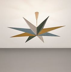 design-is-fine:  Gino Sarfatti, ceiling light, 1940s.