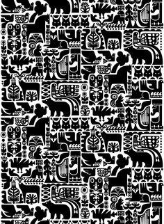 Kanteleen Kutsu se llama este poema épico de Finlandia, representado en esta tela.