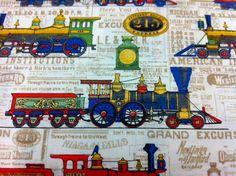 Train fabric craft ideas pinterest fabrics trains for Kids train fabric