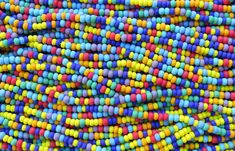 6/0 Matte Opaque Color Mixed Czech Glass Seed Bead Strand (CW175) by beadsandbabble on Etsy