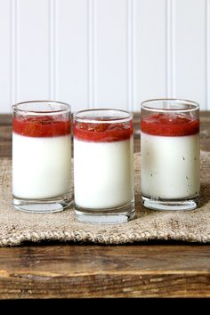 Buttermilk Panna Cotta with Simple Rhubarb Compote