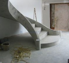 exterior concrete stair design