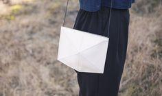 Elegant shoulderbag - Mini Fold - Zand-erover