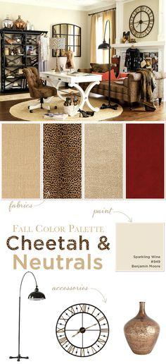 Fall color palette: Cheetah & Neutrals