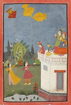 Women flying Kites. Bundi c 1780. Per Ambrin Hayat's Twitter page.