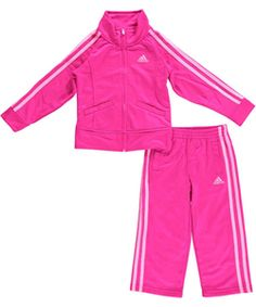 """Adidas Little Girls' Toddler """"Uphill Track"""" 2-Piece Tricot Tracksuit (Sizes 2T – 4T) $19.99"""