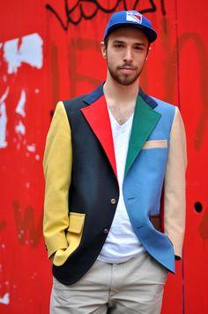 Phil Cohen wears a Vintage Color Blocked Blazer Chicos Fashion, Men's Fashion, Stylish Boys, Dapper Men, What Should I Wear, Mens Fashion Shoes, Vintage Colors, Sport Coat, Colored Blazer