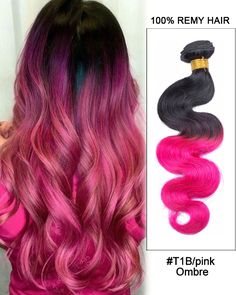 We've gathered our favorite ideas for 16 Black Pink Ombre Hair Body Wave Hair Bundles, Explore our list of popular images of 16 Black Pink Ombre Hair Body Wave Hair Bundles in black with pink ombre hair. Dark Red Hair Dye, Black Hair Ombre, Dyed Hair Ombre, Best Ombre Hair, Pink Hair Dye, Hair Color Pink, Hair Colors, Pink Hair Tips, Hair Dye Tips