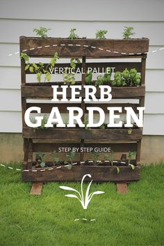 This vertical herb garden will add style and function to your outdoor space. http://www.unclebobs.com/blog/diy/vertical-pallet-herb-garden/