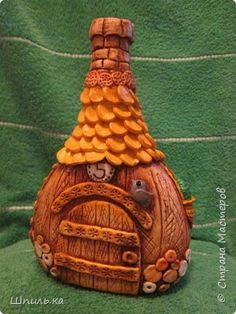 Поделка изделие Лепка Домики в подарок Тесто соленое фото 3