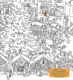 Coloriage La Famille Oukilé : Les courses de Noël