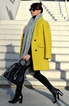 Yellow Basic Coat
