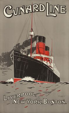 Belfast Cork Ship Travel Poster Art Print A4 Vintage Clyde Shipping Co Glasgow