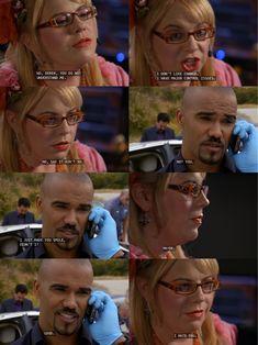 criminal minds funny Penelope Garcia and Derek Morgan garciaxmorgan