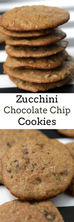 EASY to make Zucchini Chocolate Chip Cookies recipe. These cookies are beautiful with specks of green zucchini in them! Cookies are ready in 15 minutes!