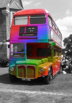 A touch of colour with the Rainbow Bus