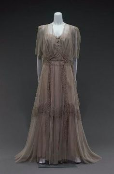 Evening dress in two parts