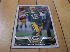 2013 Topps Card #300 AARON RODGERS Green Bay Packers Quarterback Mint Condition