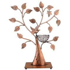 Copper Color HeartShaped with Roses Earring Holder Earring Tree