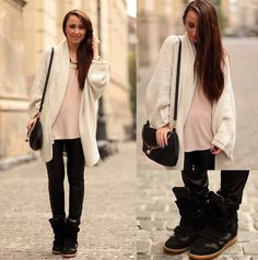 Black sneaker wedges...ugly or cute, can't decide!