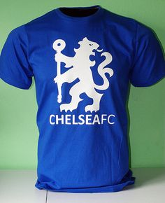 Chelsea Football Soccer T Shirt Jersey Lion Symbol Chelsea Soccer, Chelsea Blue, Chelsea Fans, Soccer Fans, Football Soccer, Soccer Stuff, College Football, Chelsea Clothing, Cool Shirt Designs
