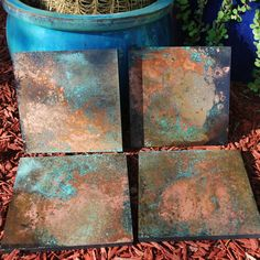 Chandler Arizona, Various copper wall hangings with Patina… Copper Wall Art, Metal Tree Wall Art, Diy Wall Art, Metal Art, Patina Metal, Faux Painting, Painting Techniques, Sculpture, Artwork