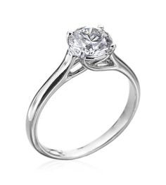 Michael C. Fina - Entwined Collection Platinum 1.50ct Round Setting