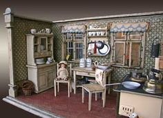My Petit Parterre: My Antique German Kitchen Roombox